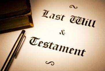 Hacer testamento para redimirse