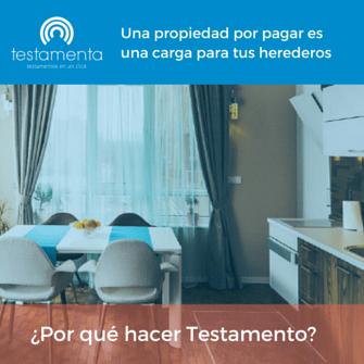 Testamento online personas con hipoteca